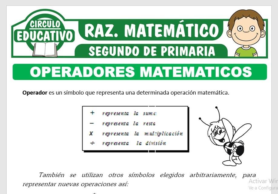 Operadores Matemáticos para Segundo de Primaria