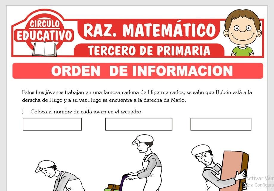 Orden de Información Horizontal para Tercero de Primaria