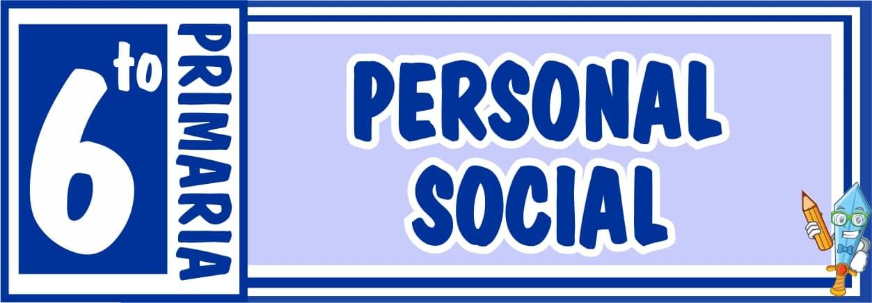 Personal Social Sexto de Primaria