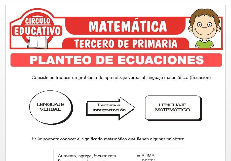 Planteo de Ecuaciones para Tercero de Primaria