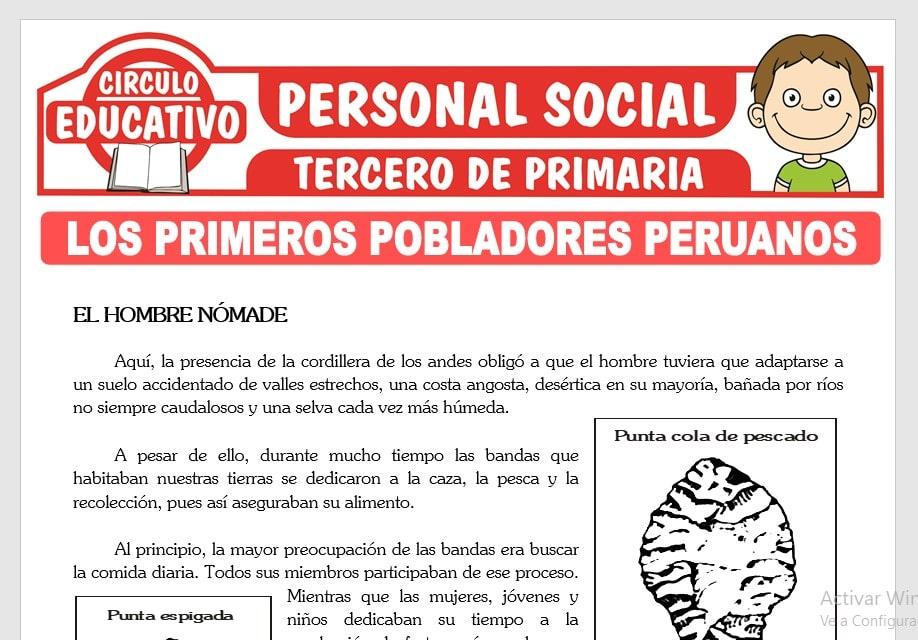Primeros Pobladores Peruanos para Tercero de Primaria