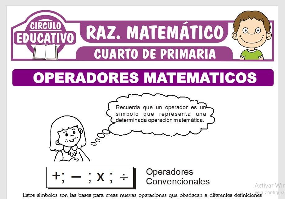 Problemas de Operadores Matemáticos para Cuarto de Primaria