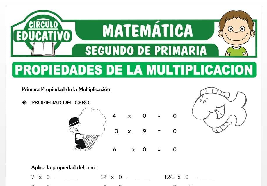 Propiedades de la Multiplicación para Segundo de Primaria