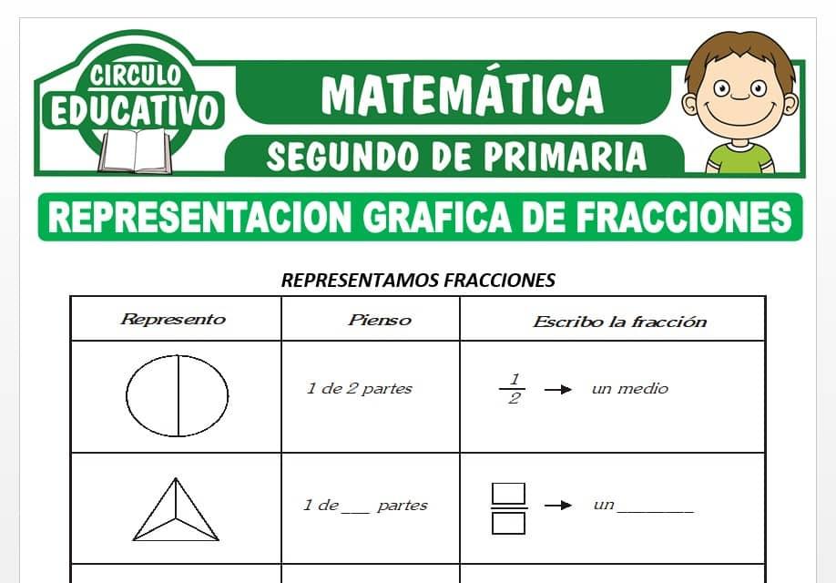 Representación Gráfica de Fracciones para Segundo de Primaria