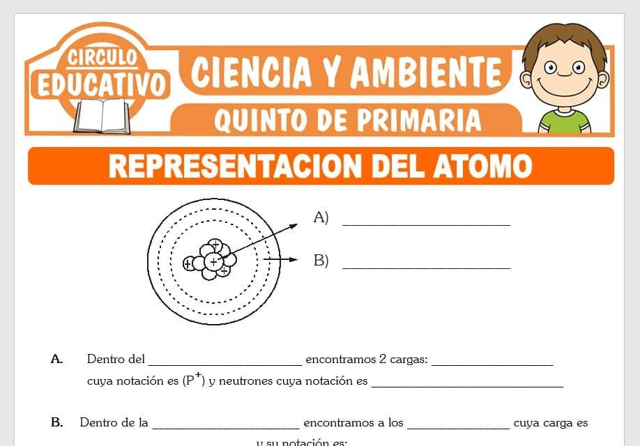 Representación del Átomo para Quinto de Primaria