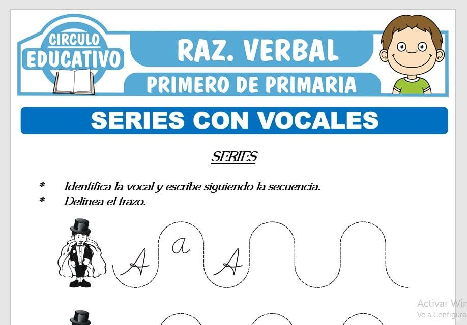 Series con Vocales para Primero de Primaria