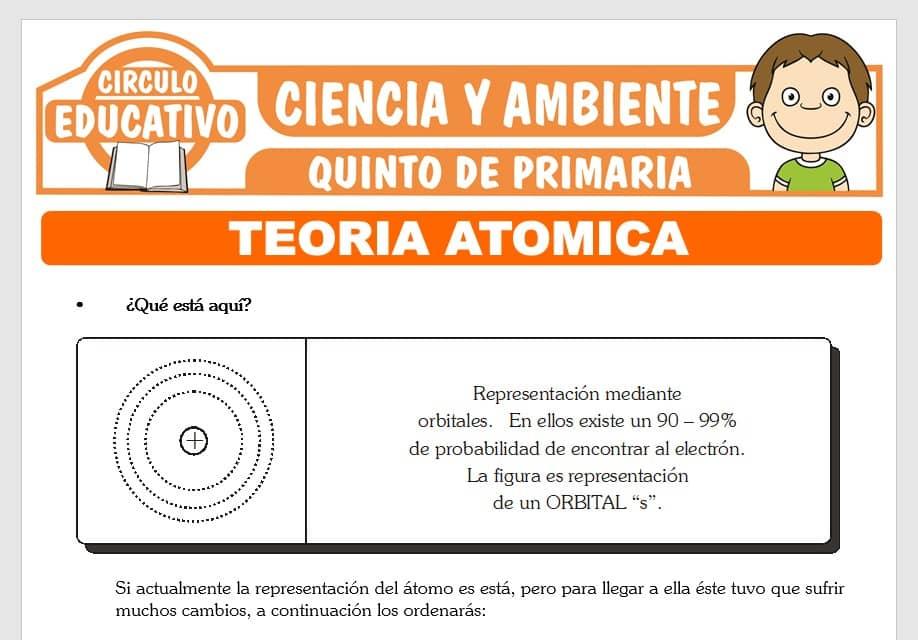 Teoría Atómica para Quinto de Primaria