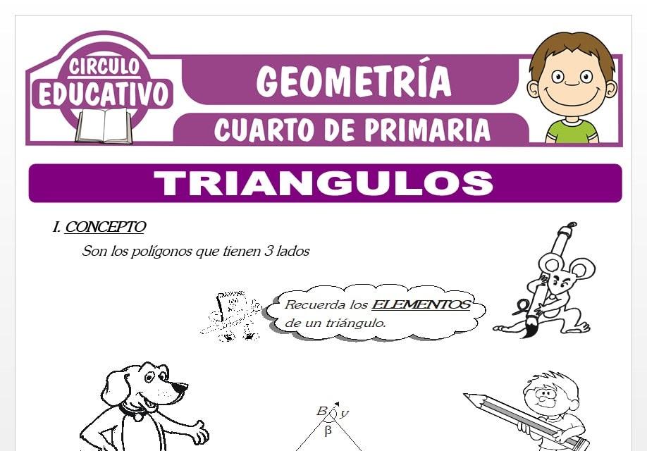 Triángulos para Cuarto de Primaria